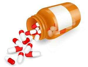 Pills-and-bottle